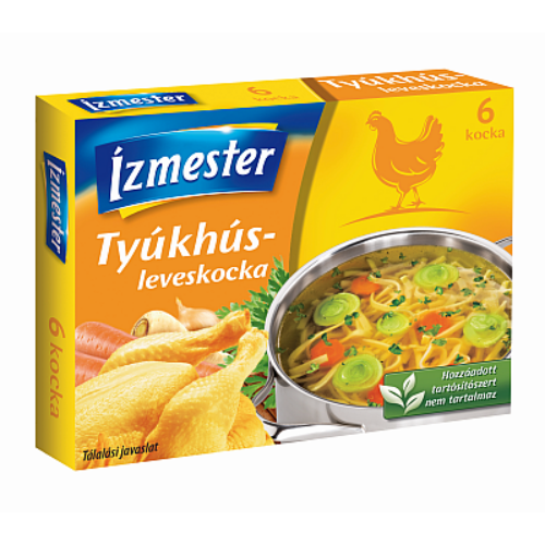 Ízmester/ Lacikonyha Tyúkhúsleves Kocka 60 g