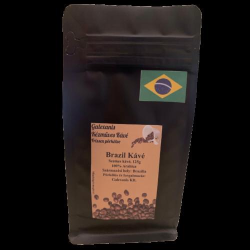 Brazil Kávé 100% Arabica Szemes Kávé 125 g