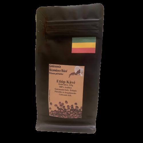 Etióp Kávé 100% Arabica Őrölt Kávé 125 g