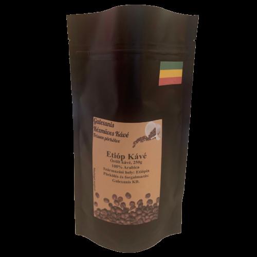 Etióp Kávé 100% Arabica Őrölt Kávé 250 g