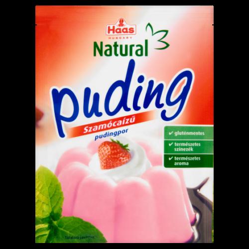 HAAS Natural Puding Szamóca Ízű 40 g