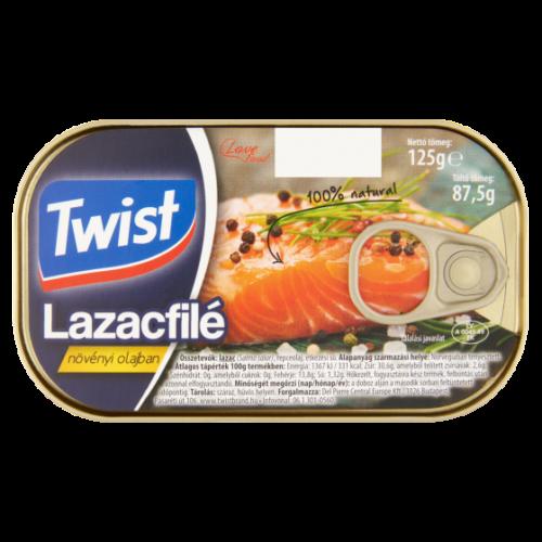 Twist Lazacfilé Növ. Olajban 125/87,5 g